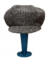 Apple cap - tweed wool, silk lined