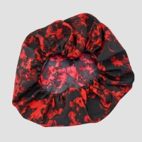 Silk Bonnet - Red & Black Print