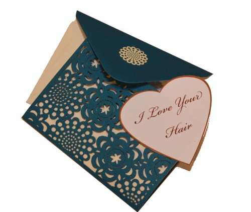 Note Card Blue with Heart