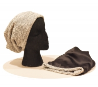 Childs Beanie -Textured Cotton