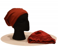 Childs Beanie - Lt Wool & Silk - Red