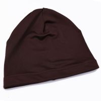Silk Jersey Beanie - Rich Brown